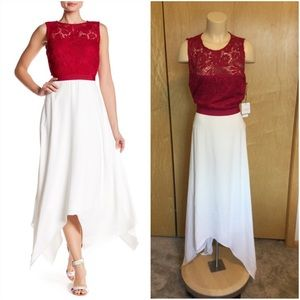 Laundry Lace Top with Handkerchief Skirt Gown